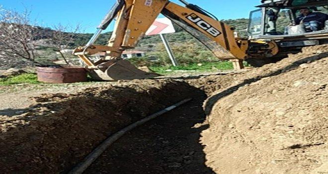 Datça'da içme suyu hattı yenilendi